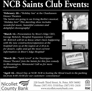 NCB Saints Club Events