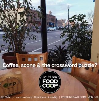 Coffee, scone & the crossword puzzle?