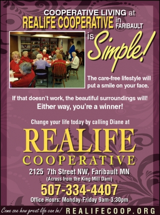 COOPERATIVE LIVING AT REALIFE COOPERATIVE