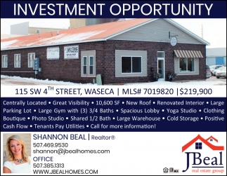 115 SW 4th Street, Waseca - Investment Opportunity, JBeal Real Estate Group: Shannon Beal