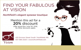 FIND YOUR FABULOUS AT VISION