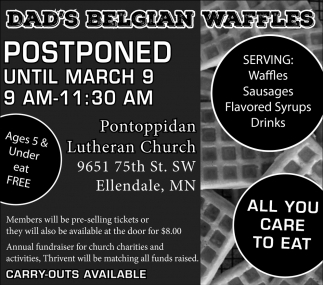 Dad's Belgian Waffles - March 9