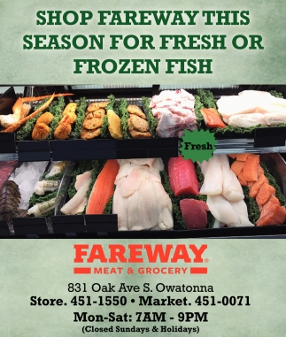 Fresh or Frozen Fish