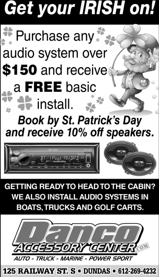 Purchase any audio system over $150 and receive a Free basic install