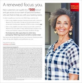 A renewed focus: you