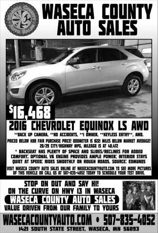 $16,468 - 2016 Chevrolet Equinox LS AWD