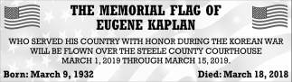 Memorial Flag of Eugene Kaplan