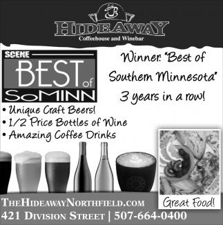 Winner: Best of Southern Minnesota 3 years in a row