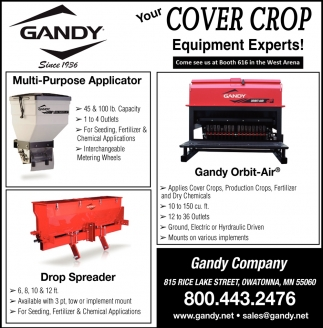 Your Cover Crop Equipment Experts!, Gandy, Owatonna, MN