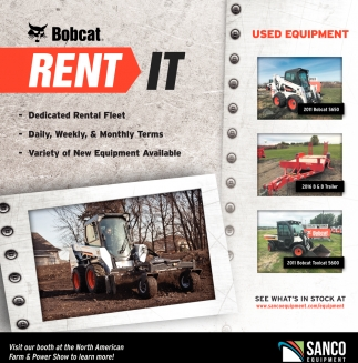 Bobcat Rent It, Sanco Equipment, Mankato, MN