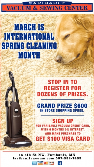 March is international spring cleaning month