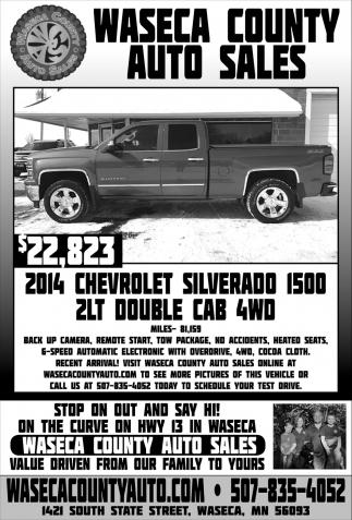 $22,823 2014 Chevrolet Silverado 1500 2LT Double Cab 4WD