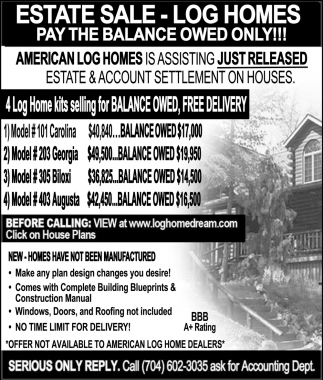 Estate Sale - Pay the balance owed only!