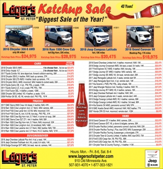 Ketchup Sale - Biggest Sale of Year