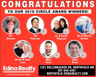 Congratulations to our 2019 circle award winners!
