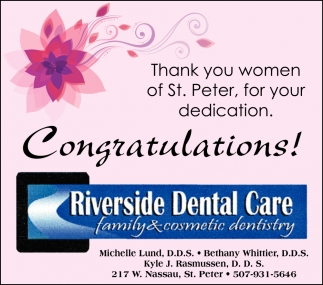 Thank you women of St. Peter, for your dedication. Congratulations!