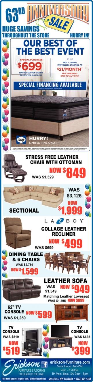 63rd Anniversary Sale