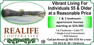 Vibrant Living For Individuals 55 & Older at a Reasonable Price