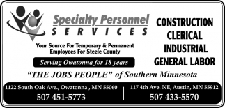 Your Source For Temporary & Permanent employees for Steele County