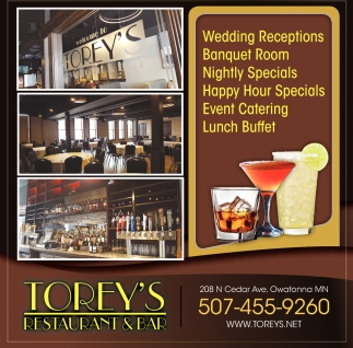 Wedding Receptions - Banquet Room - Nightly Specials