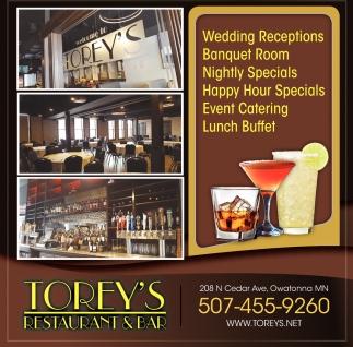 Wedding Receptions - Banquet Room - Nightly Specials