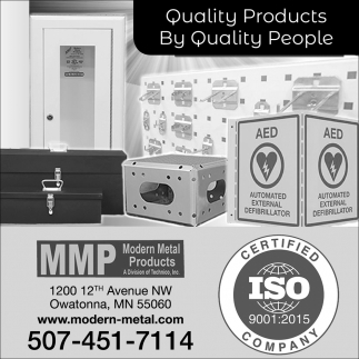 Quality Products By Quality People, Modern Metal Products, Owatonna, MN