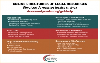 Online Directories of Local Resources, Rice County Chemical and Mental Health Coalition