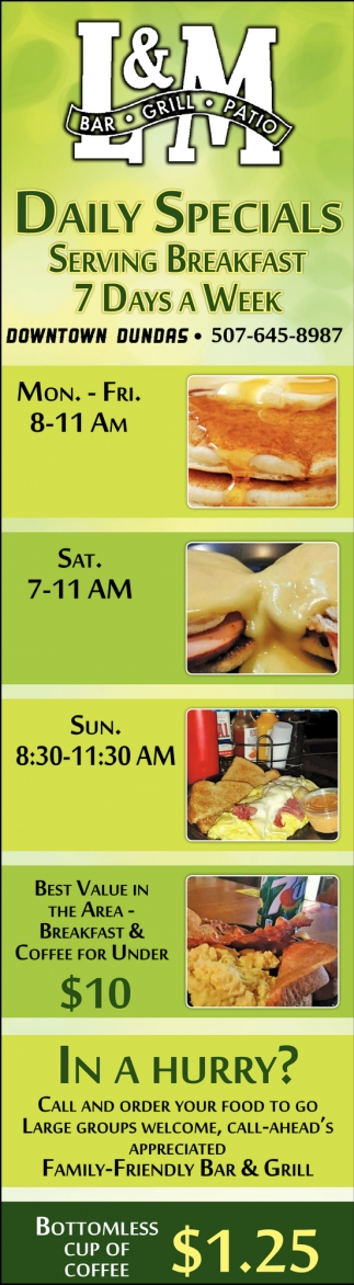 Serving Breakfast 7 Days a Week