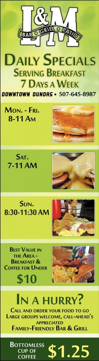 Serving Breakfast 7 Days a Week