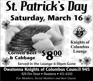 St. Patrick's Day - March 16