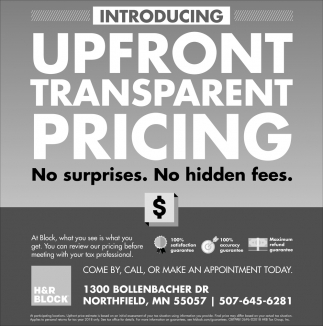 Introducing - Upfront Transparent Pricing