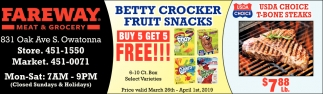Betty Crocker Fruit Snacks