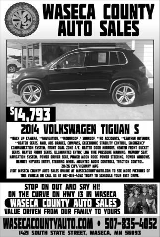 $14,73 2014 Volswaen Tiguan S