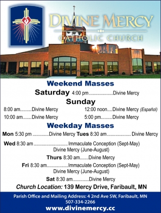 Weekend Masses
