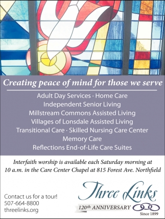 Creating peace of mind for those we serve