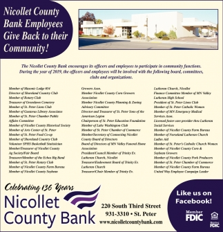 Nicollet County Bank Employees Give Back to their Community