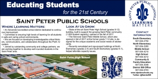 Educating Students for the 21st Century, Saint Peter Public School, Saint Peter, MN