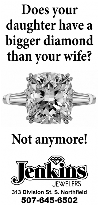 Does your daughter have a bigger diamond than your wife?