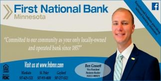 Ben Gossett, Vice President - Business Banker