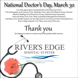 National Doctor's Day, March 30