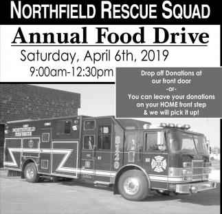 Annual Food Drive April 6th