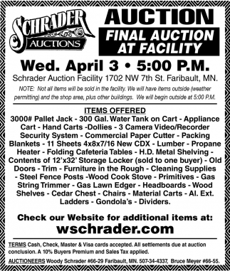 Final Auction At Facility