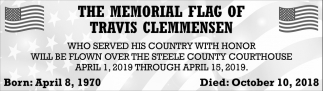 Memorial Flag of Travis Clemmensen