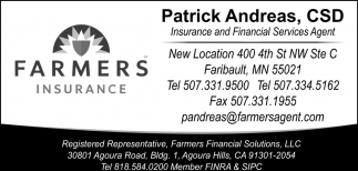 Insurance and Financial Services Agent