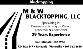 Blacktopping