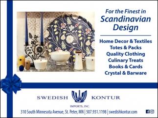 For the Finest Scandinavian Design