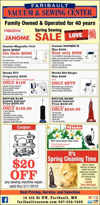 Spring Sewing Sale