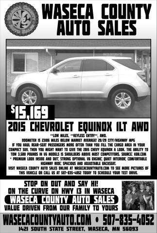 $15,169 2015 Chevrolet Equinox ILT AWD