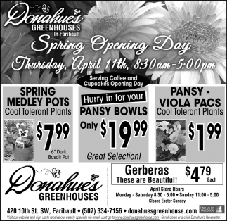 Spring Opening Day April 11th