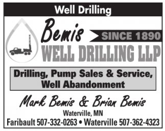 Bemis Well Drilling LLP since 1890